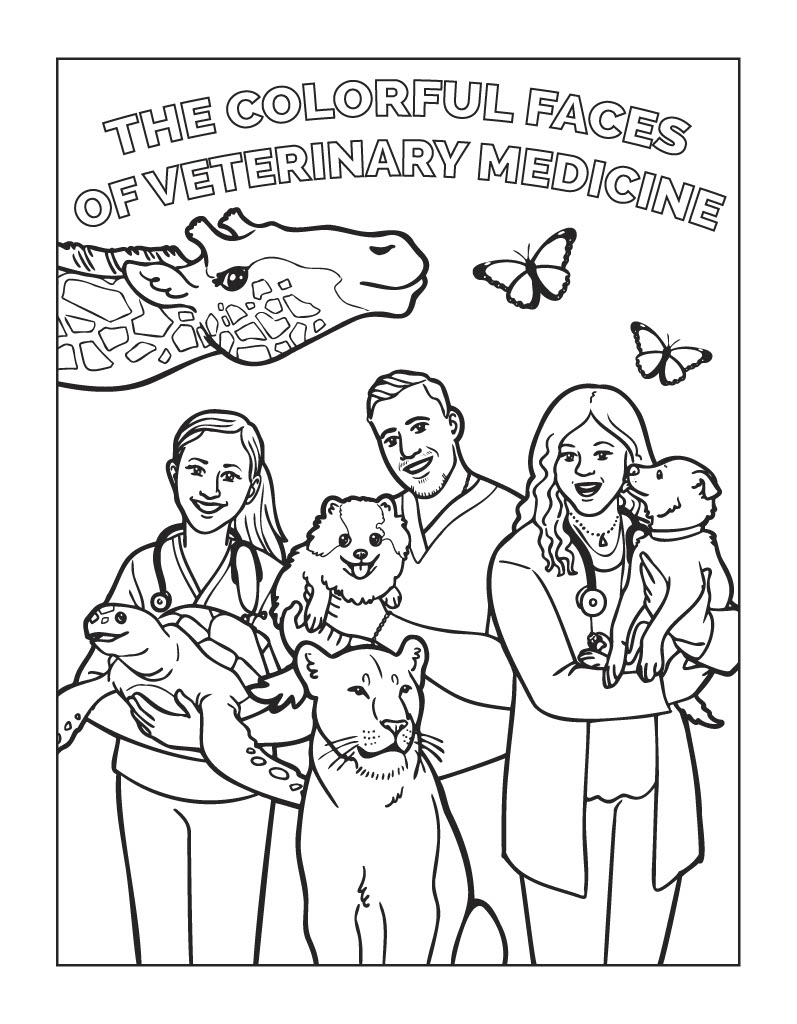 hilltop animal hospital vets of all color coloring book